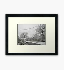 Feb. 19 2012 Snowstorm 5 Framed Print