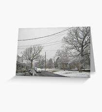Feb. 19 2012 Snowstorm 5 Greeting Card