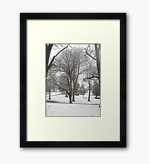 Feb. 19 2012 Snowstorm 17 Framed Print