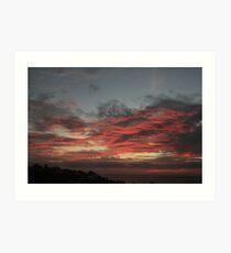Kingston Park,S.A.bright red sunset,2012 Art Print