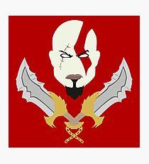 Kratos the God of War Minimalistic Design Photographic Print