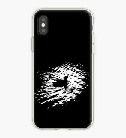 Coot, silhouette as swimming on a pond iPhone Case