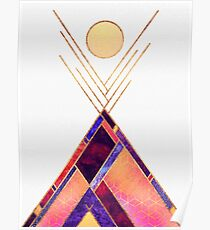 Tipi Mountain Poster