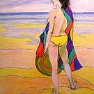 Beach girl # 2  by Virginia McGowan
