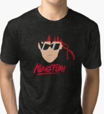 Kung Fury Minimalistic Design Tri-blend T-Shirt