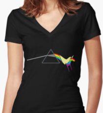 Rainicorn Floyd Women's Fitted V-Neck T-Shirt