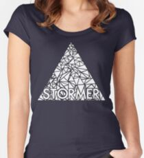 storming the white triangle Women's Fitted Scoop T-Shirt