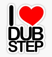 I love dubstep (dark)  Sticker