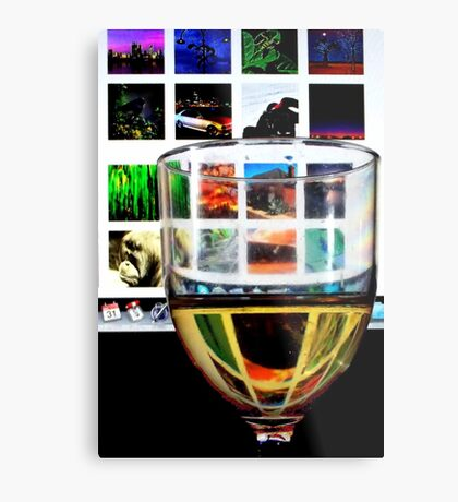 Drinking In Front Of The Computer Metal Print