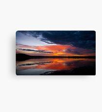 Sunrise over East Basin Lake Burley Griffin Canvas Print