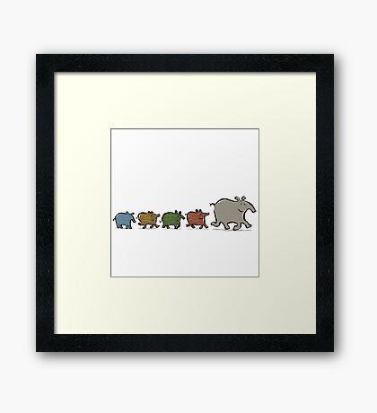 tapir family Framed Print
