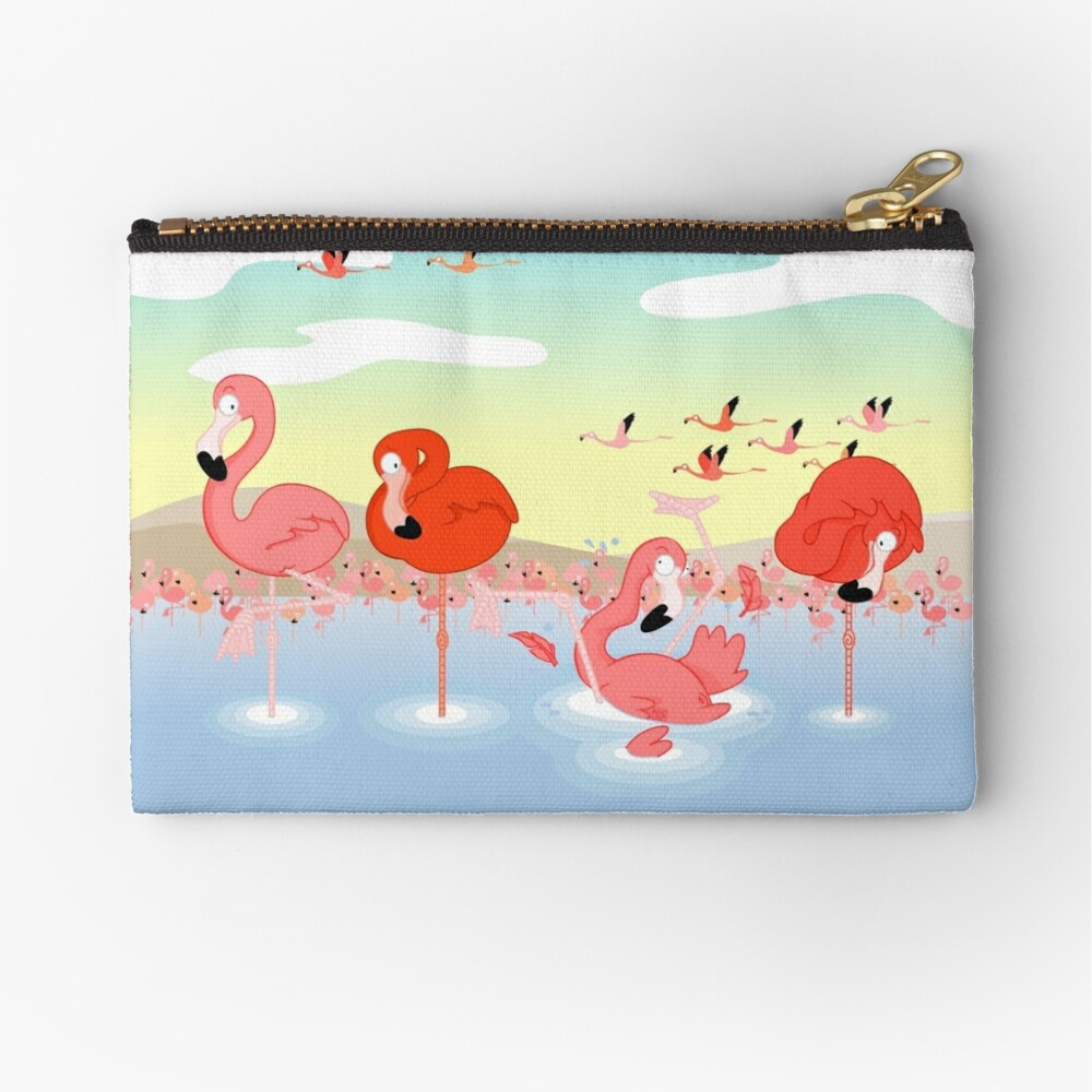 Flamingos Zipper Pouch