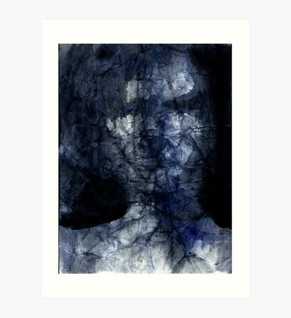dark face in the shadow Art Print