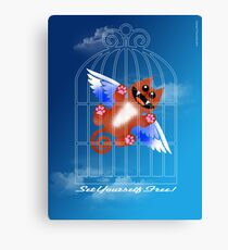 SET YOURSELF FREE! (card) Canvas Print
