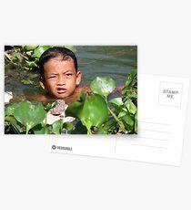 Floating Village - Child Postcards