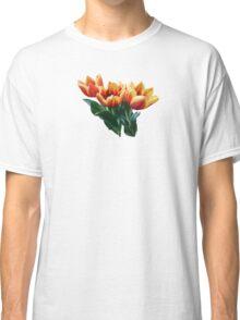 Three Orange and Red Tulips Classic T-Shirt