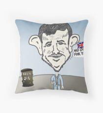 binary options news Ahmedinajad cartoon Throw Pillow