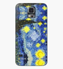 8-bit Starry Night Case/Skin for Samsung Galaxy