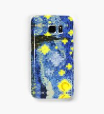 8-bit Starry Night Samsung Galaxy Case/Skin
