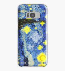 8-bit Starry Night Samsung Galaxy Case/Skin