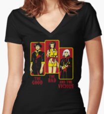 The Good, The Bad and the Vicious Women's Fitted V-Neck T-Shirt