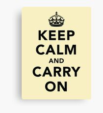 Keep Calm and Carry On - Light Canvas Print