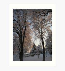 Feb. 19 2012 Snowstorm 135 Art Print