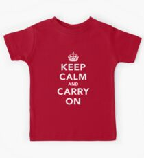 Keep Calm and Carry On - Dark Kids Tee