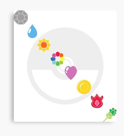 Pokemon Badges Canvas Print