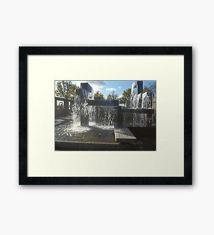 Waterfall Sculpture Framed Print