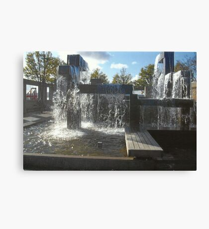 Waterfall Sculpture Canvas Print