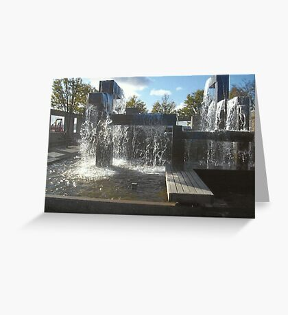 Waterfall Sculpture Greeting Card
