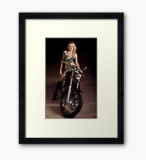 Blond Biker Framed Print