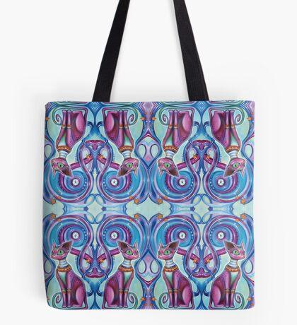 Fractaline Feline Tote Bag