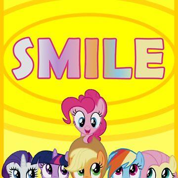 Smile! - Pinkie Pie (Bordered) by oliethefolie