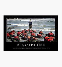 Disziplin: Inspirierend Zitat und Motivational Poster Fotodruck
