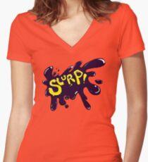 The Slurp Women's Fitted V-Neck T-Shirt
