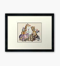 Animals of the Zoo Framed Print