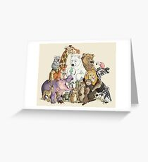 Animals of the Zoo Greeting Card