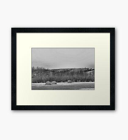 Winter Bales of The QU'APPELLE VALLEY Saskatchewan Framed Print