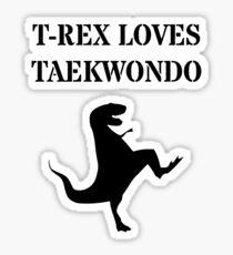 T-Rex Loves Taekwondo Sticker