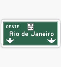 Rio de Janeiro, Road Sign, Brazil Sticker