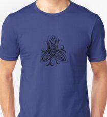 Fancy Trinity B - Knotwork - Black Unisex T-Shirt