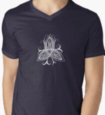 Fancy Trinity B - Knotwork - White Mens V-Neck T-Shirt
