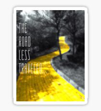 The Road Less Traveled Sticker