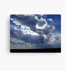 Clouds Over The Prairie Canvas Print