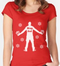 Christmas Wrap God Women's Fitted Scoop T-Shirt