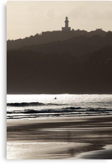 A Grey Day at Byron Bay by John Sharp