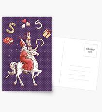 Sinterklaas Greeting Card - Purple Postcards