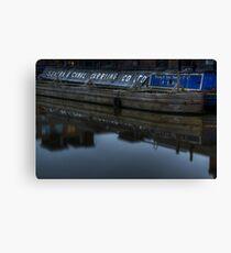 Barge, Gloucester Docks, Gloucester Canvas Print